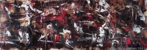 Suriyyah 1 - 2013 Huile/toile 13 x 36 po. (33 x 91½ cm) 950$
