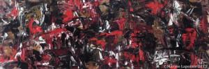 Suriyyah 2 - 2013 Huile/toile 13 x 36 po. (33 x 91½ cm) 950$