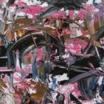 Structure noire, rose et Sienne - 2016
