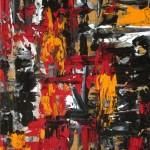Détour automatiste rouge, orange et noir - 2016
