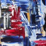 Détour automatiste bleu et rouge 1 - 2016