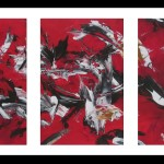 Triptyque Rouge Arabesques - 2017