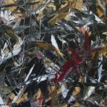 Tumulte - 2017 Huile sur toile et collage 16 x 20 po. (40.5 x 51 cm) 400$